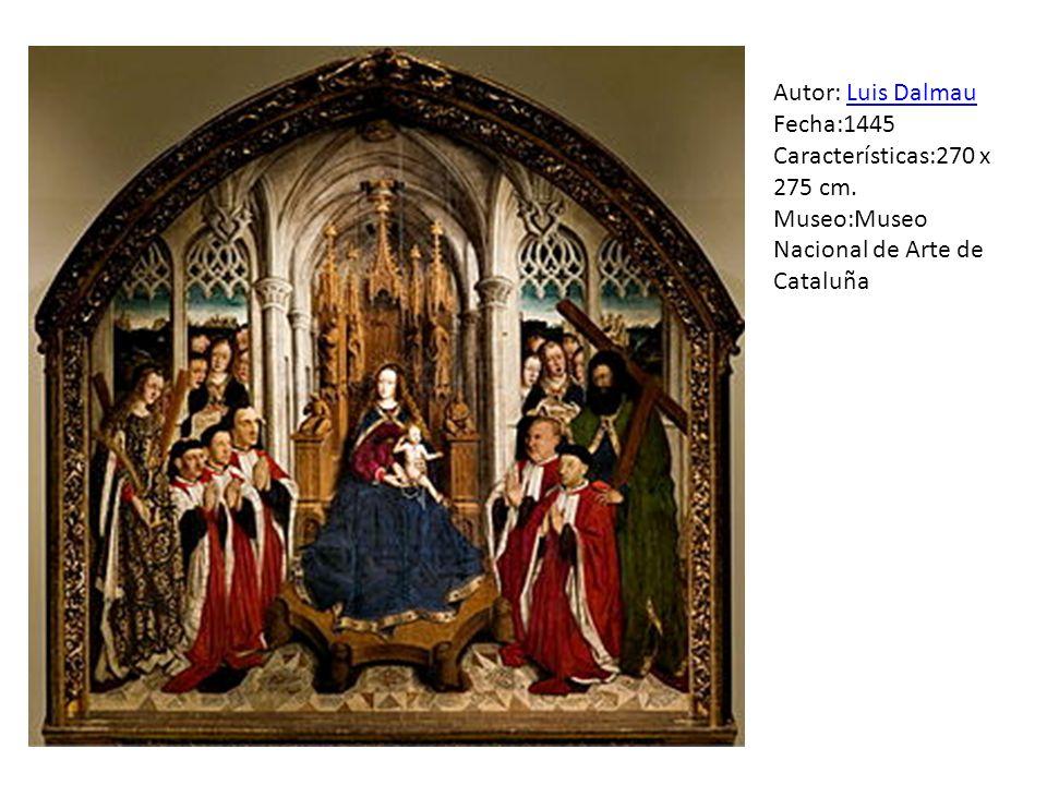 Autor: Luis Dalmau Fecha:1445 Características:270 x 275 cm