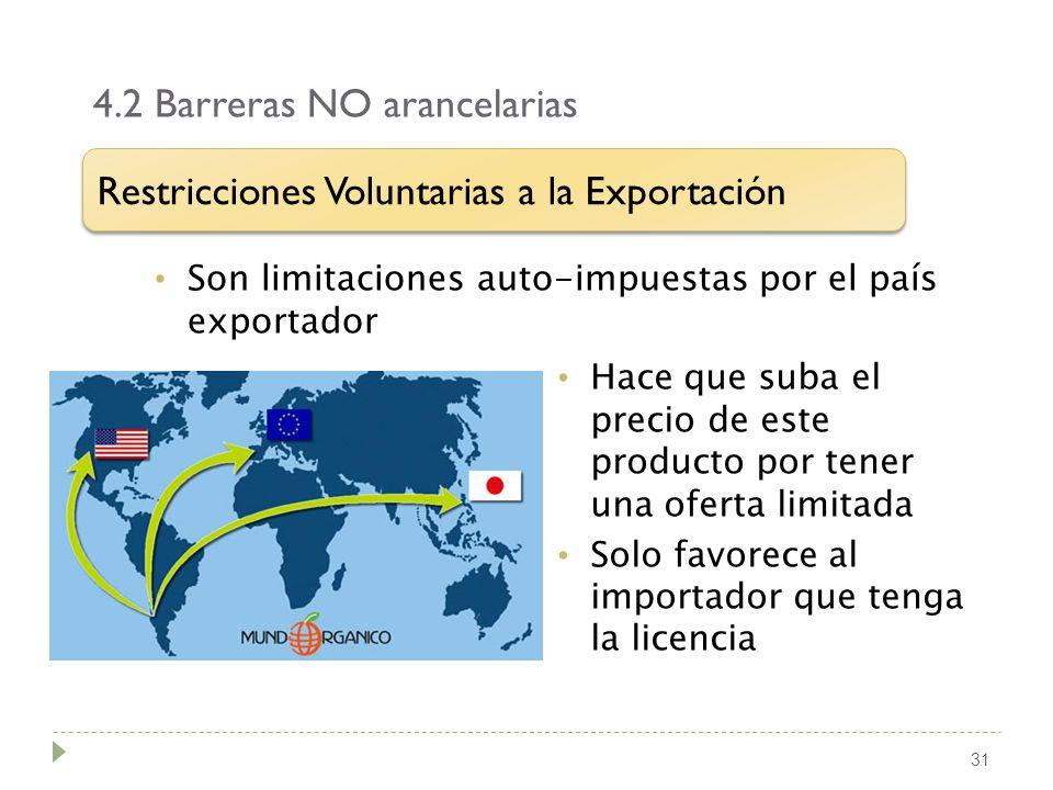 4.2 Barreras NO arancelarias