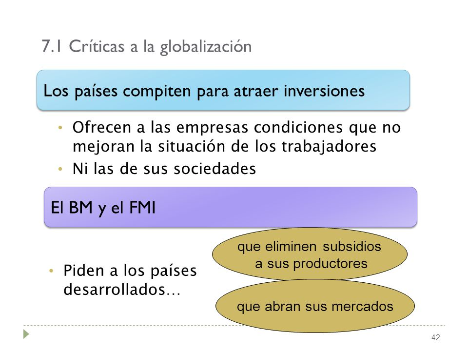 7.1 Críticas a la globalización