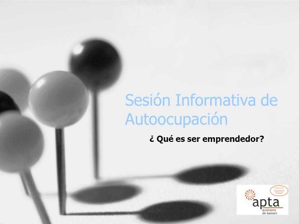 Sesión Informativa de Autoocupación