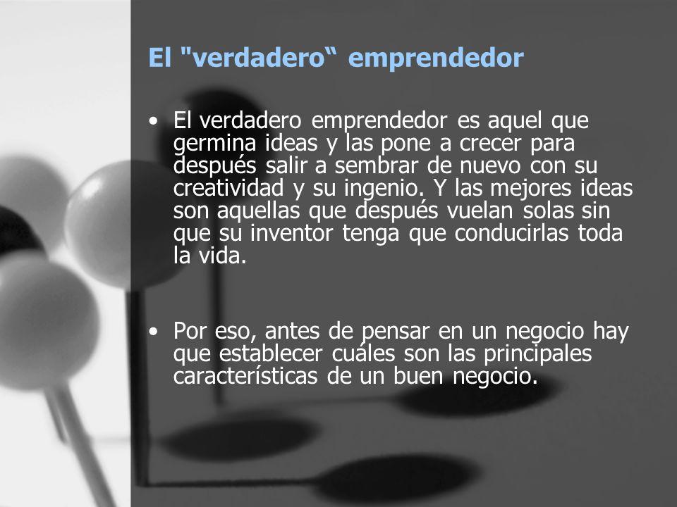 El verdadero emprendedor
