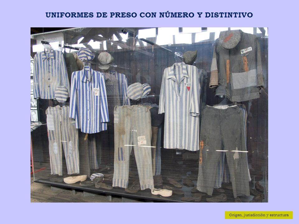 UNIFORMES DE PRESO CON NÚMERO Y DISTINTIVO