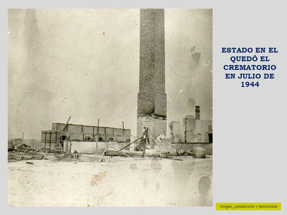 ESTADO EN EL QUEDÓ EL CREMATORIO EN JULIO DE 1944