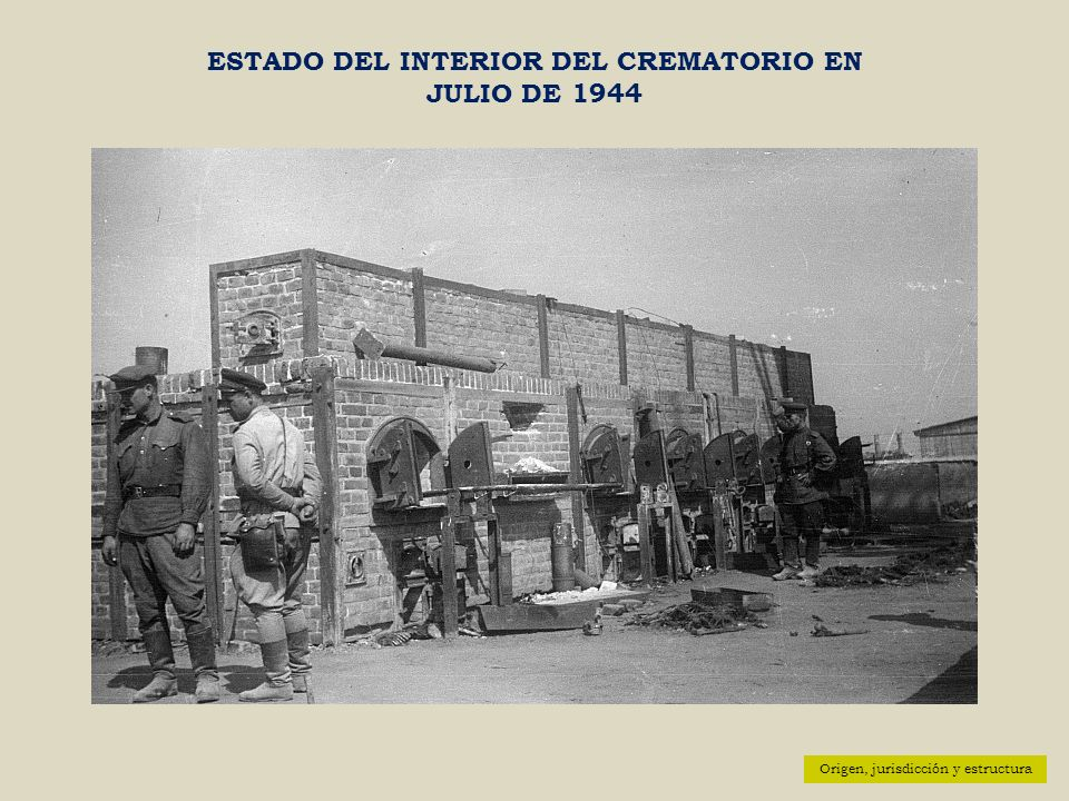 ESTADO DEL INTERIOR DEL CREMATORIO EN JULIO DE 1944