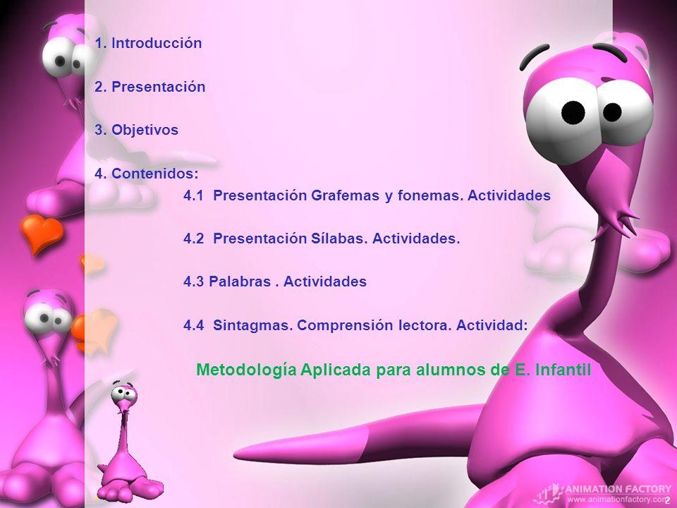 4.1 Presentación Grafemas y fonemas. Actividades