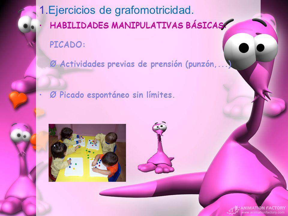 1.Ejercicios de grafomotricidad.