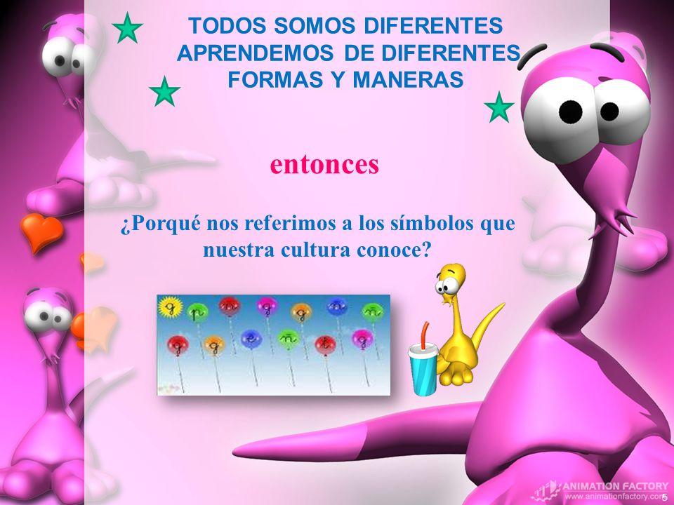 TODOS SOMOS DIFERENTES APRENDEMOS DE DIFERENTES FORMAS Y MANERAS