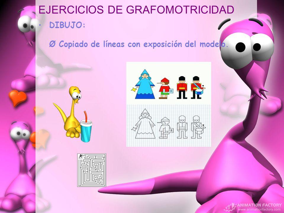EJERCICIOS DE GRAFOMOTRICIDAD