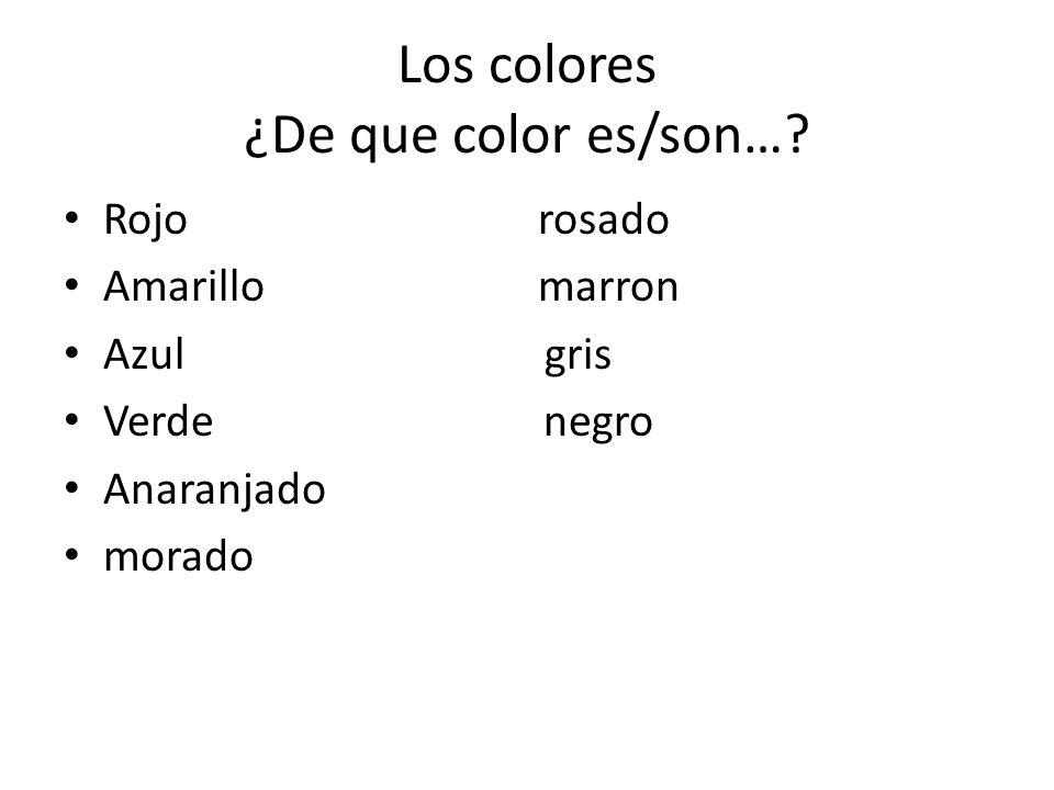 Los colores ¿De que color es/son…