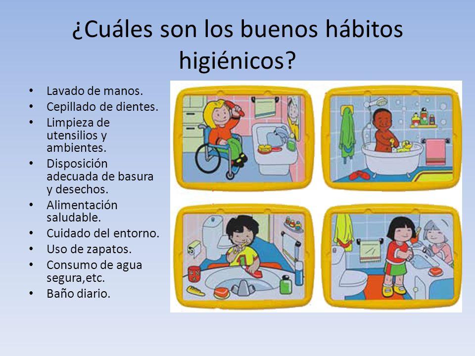 ¿Cuáles son los buenos hábitos higiénicos
