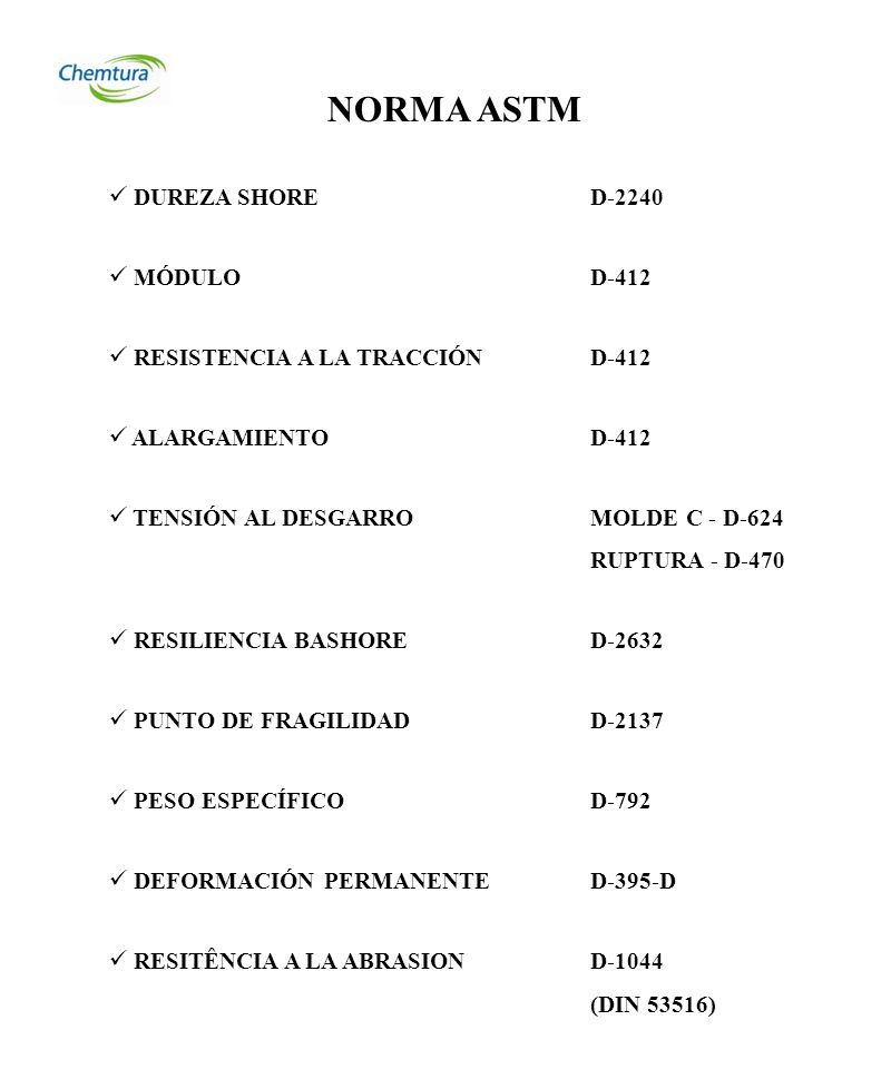 NORMA ASTM DUREZA SHORE D-2240 MÓDULO D-412