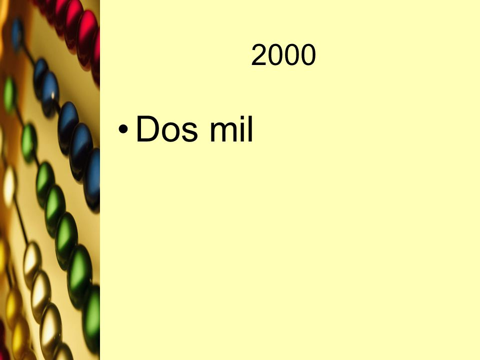 2000 Dos mil