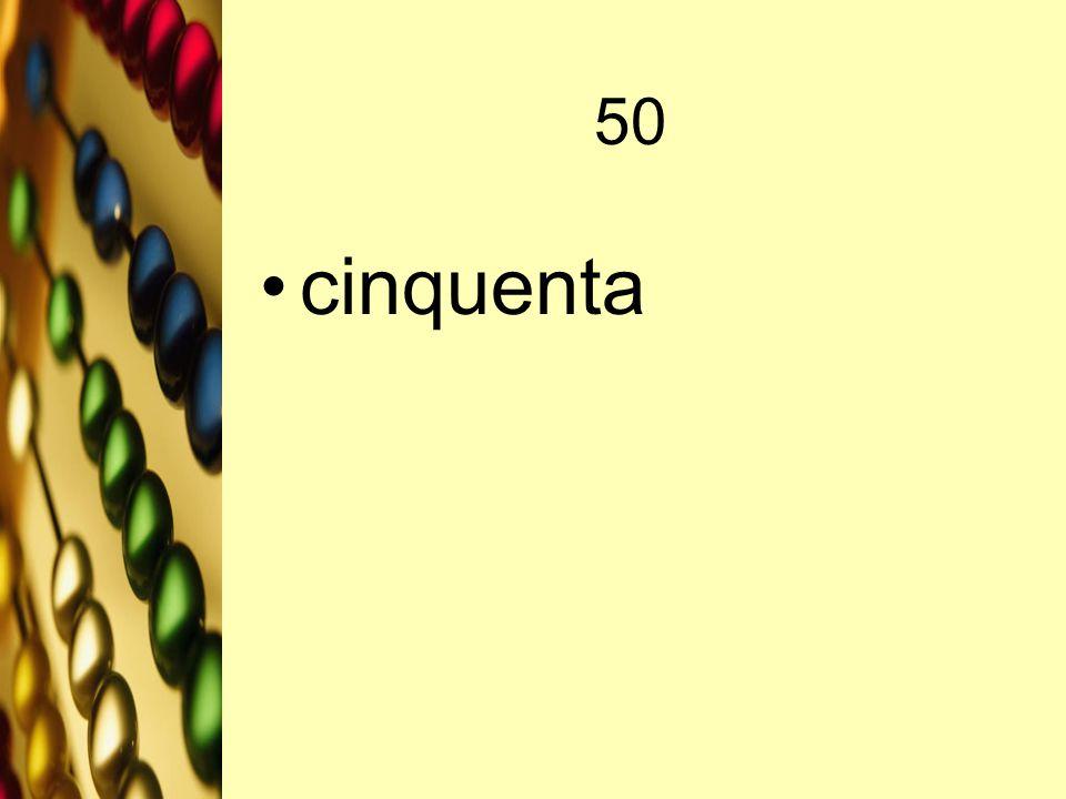 50 cinquenta