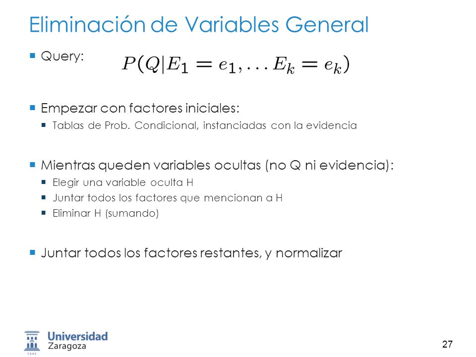 Eliminación de Variables General