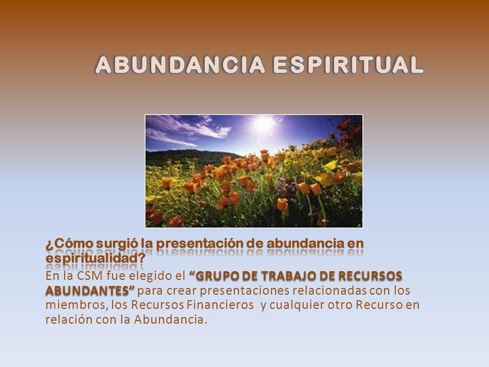ABUNDANCIA ESPIRITUAL