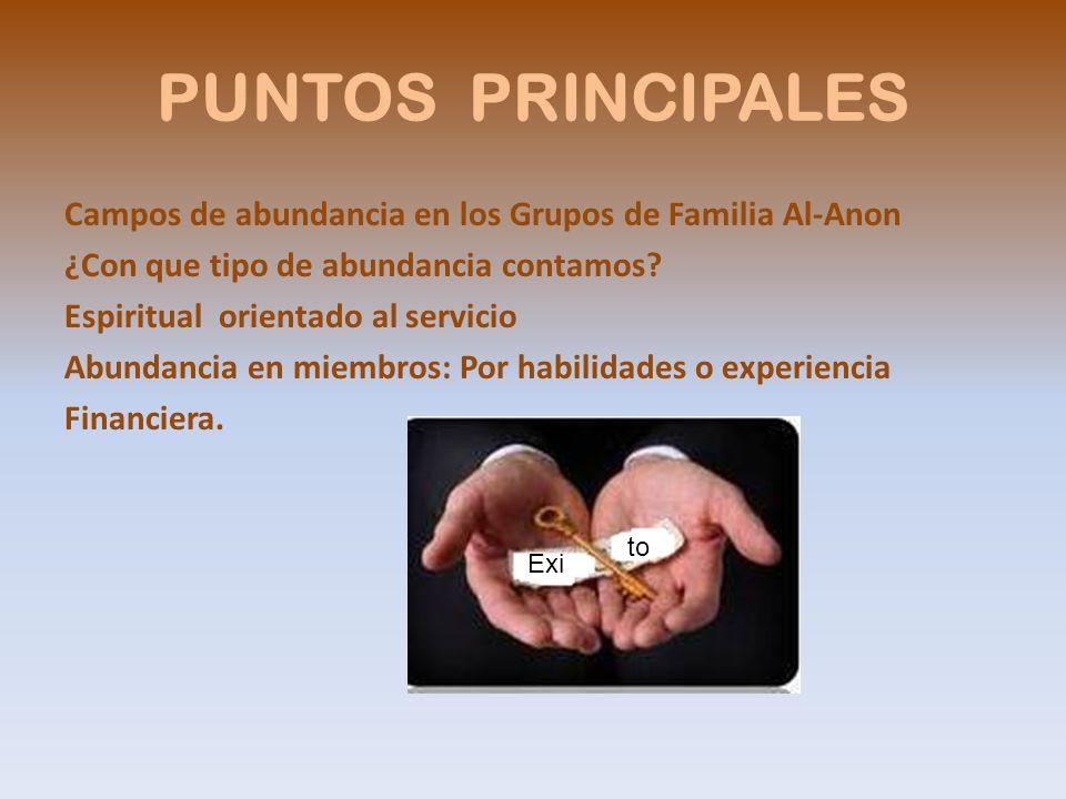 PUNTOS PRINCIPALES