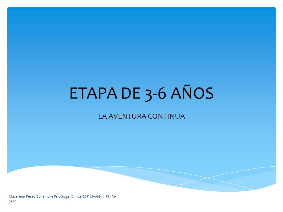 ETAPA DE 3-6 AÑOS LA AVENTURA CONTINÚA