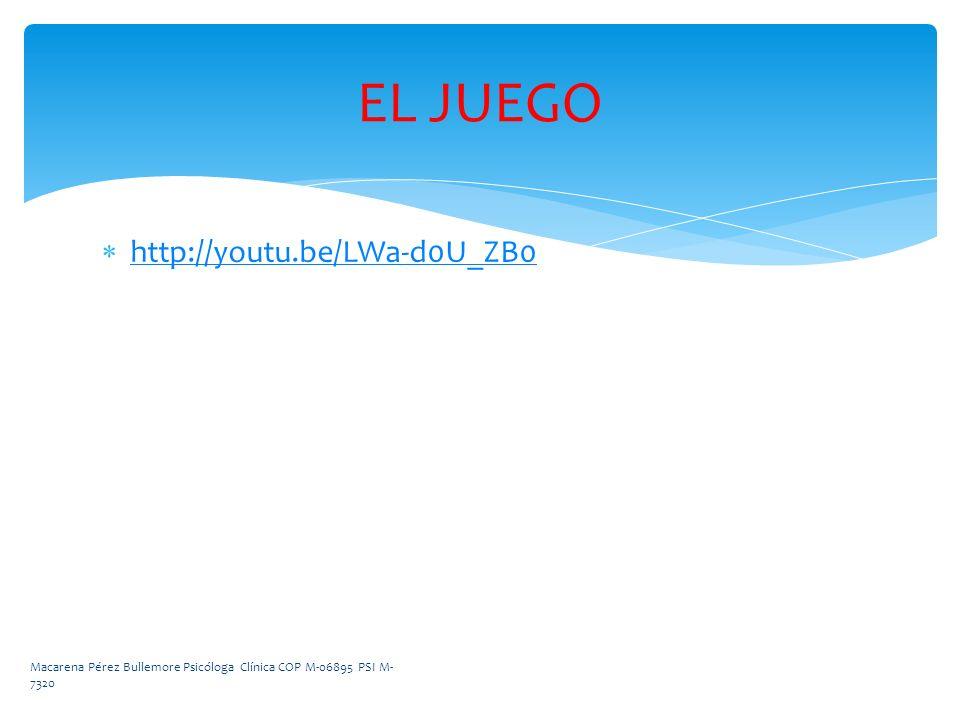 EL JUEGO http://youtu.be/LWa-d0U_ZB0