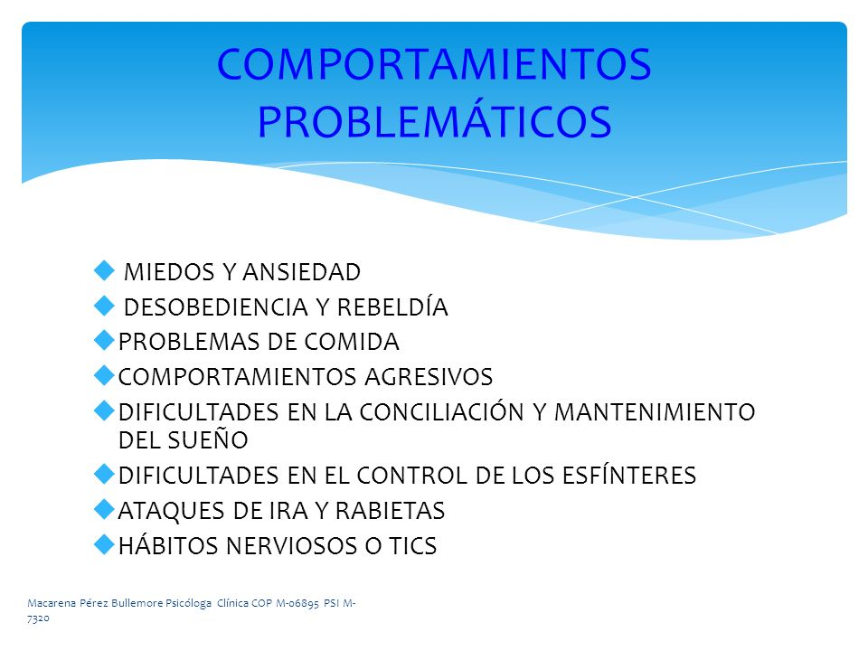 COMPORTAMIENTOS PROBLEMÁTICOS