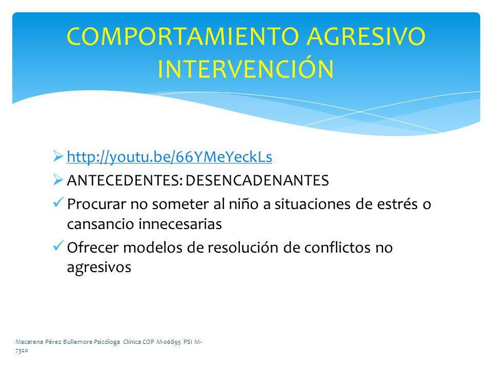 COMPORTAMIENTO AGRESIVO INTERVENCIÓN