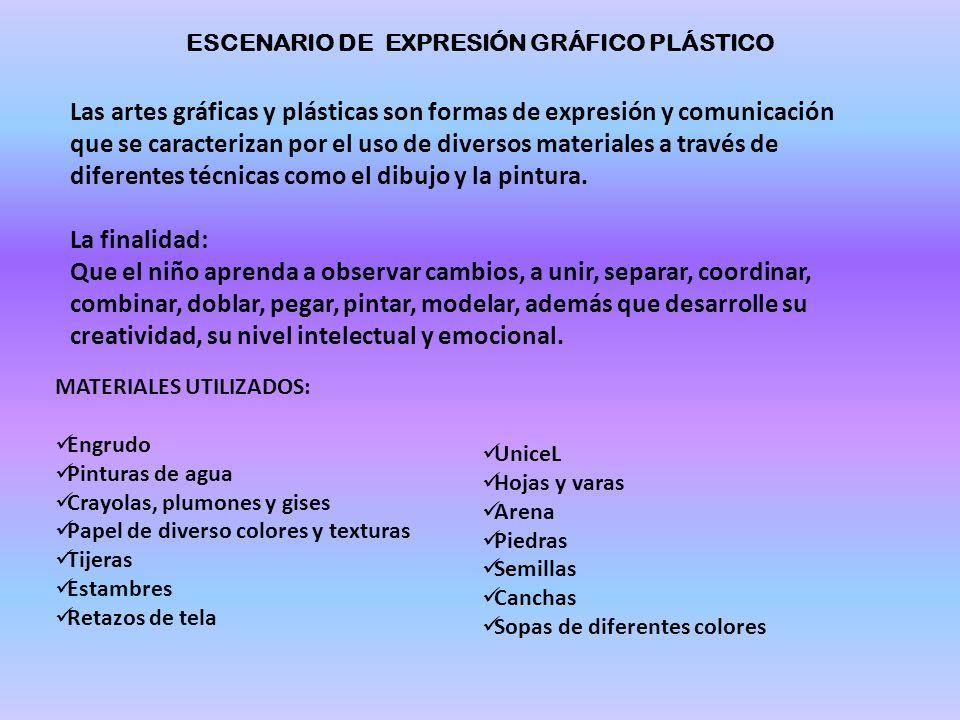 ESCENARIO DE EXPRESIÓN GRÁFICO PLÁSTICO
