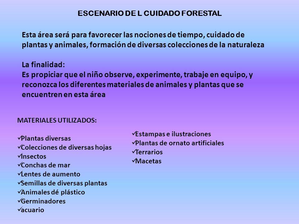 ESCENARIO DE L CUIDADO FORESTAL