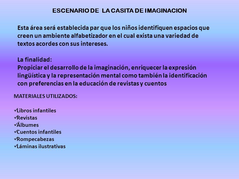 ESCENARIO DE LA CASITA DE IMAGINACION