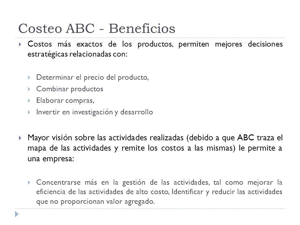 Costeo ABC - Beneficios