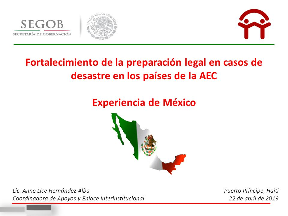 Fortalecimiento de la preparación legal en casos de desastre en los países de la AEC