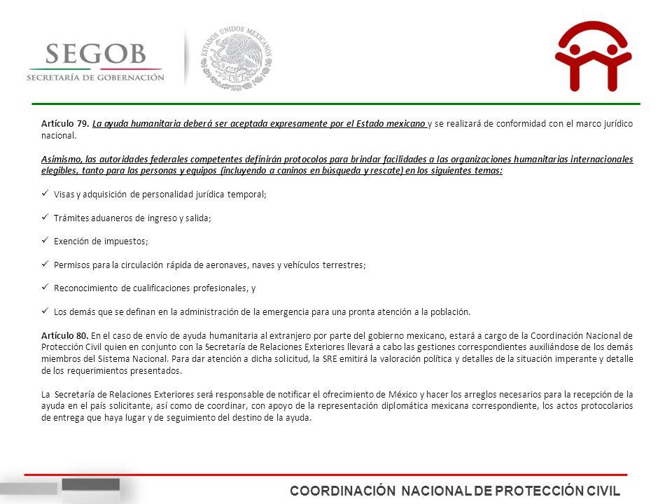 COORDINACIÓN NACIONAL DE PROTECCIÓN CIVIL