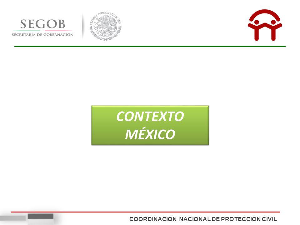 CONTEXTO MÉXICO COORDINACIÓN NACIONAL DE PROTECCIÓN CIVIL