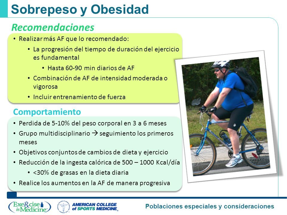 Sobrepeso y Obesidad Recomendaciones Comportamiento
