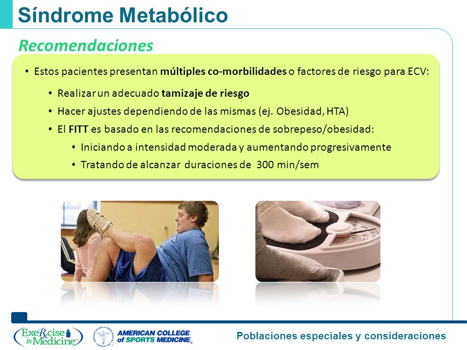 Síndrome Metabólico Recomendaciones