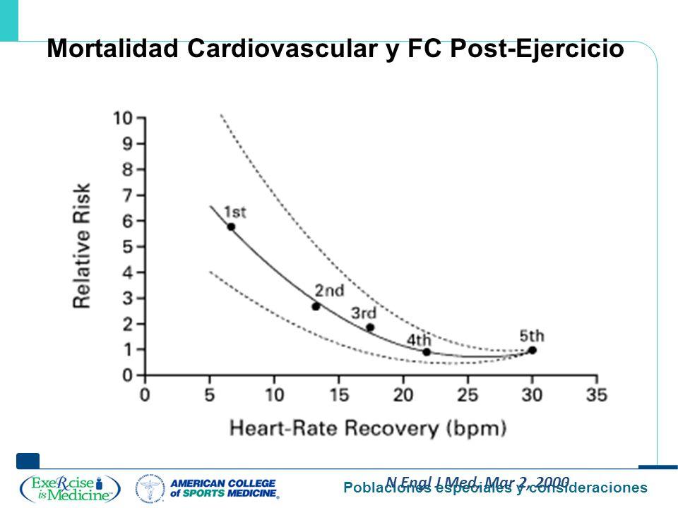 Mortalidad Cardiovascular y FC Post-Ejercicio