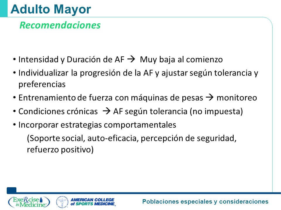 Adulto Mayor Recomendaciones