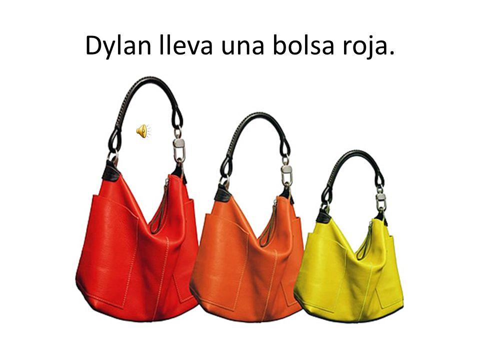 Dylan lleva una bolsa roja.