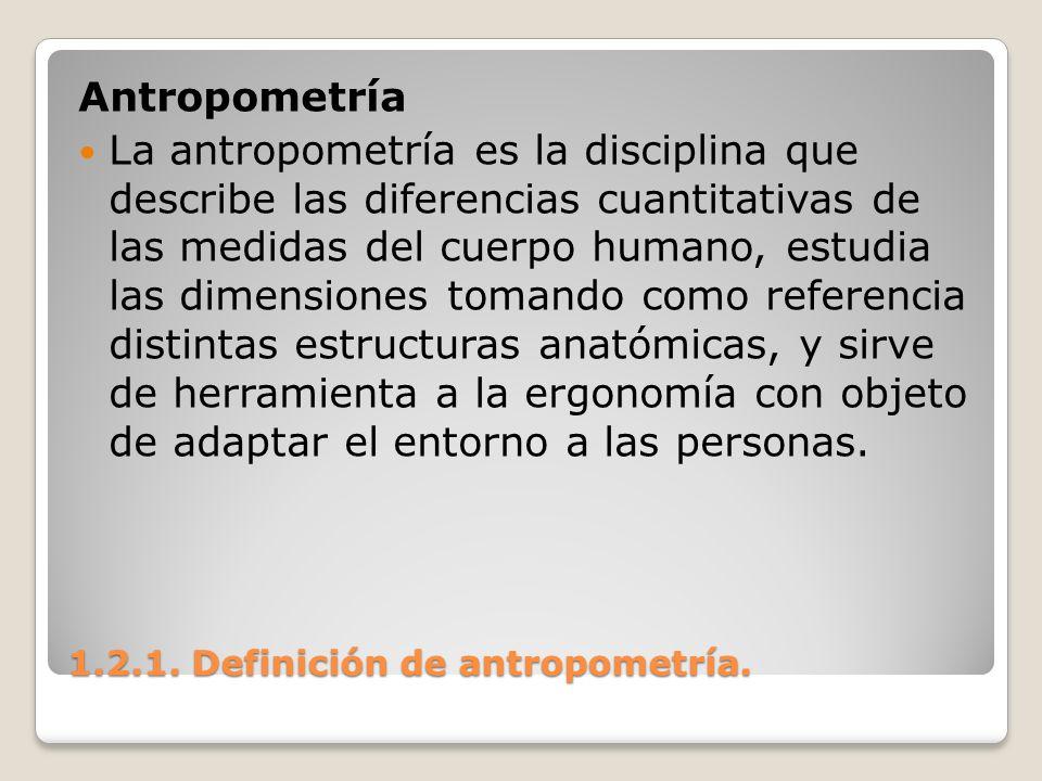 Ergonom a unidad 1 antropometr a ppt video online for Medidas antropometricas del cuerpo humano