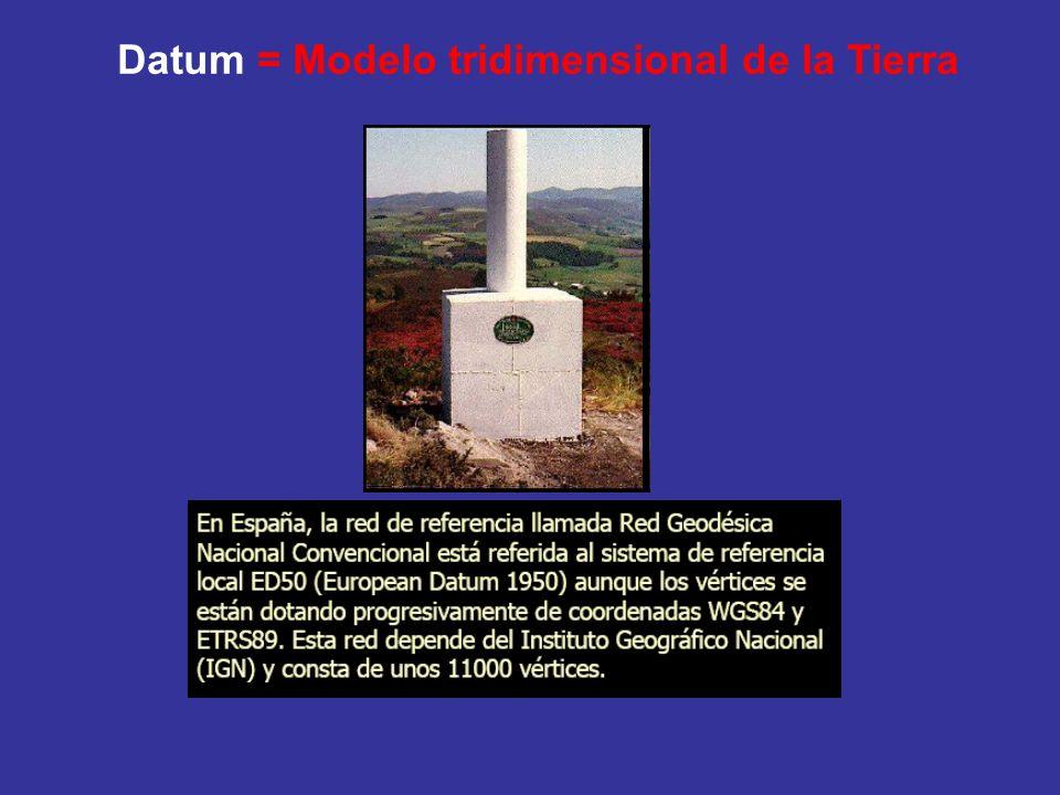 Datum = Modelo tridimensional de la Tierra