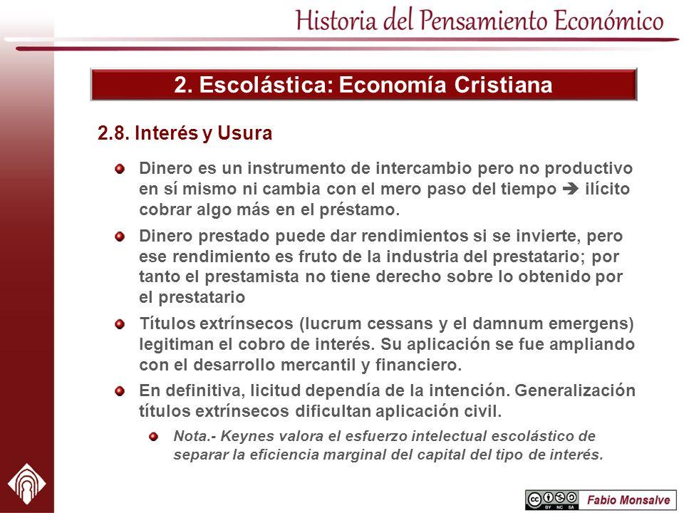2. Escolástica: Economía Cristiana