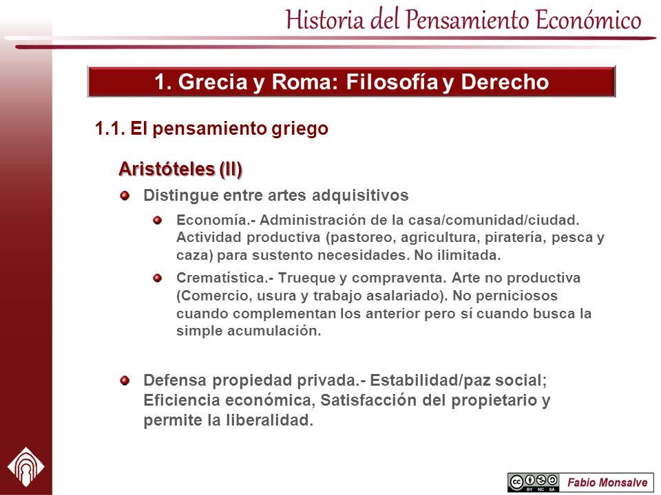 1. Grecia y Roma: Filosofía y Derecho