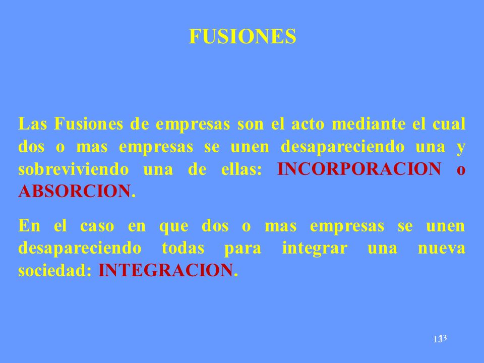 FUSIONES