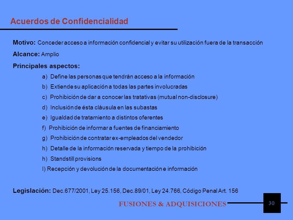 Acuerdos de Confidencialidad