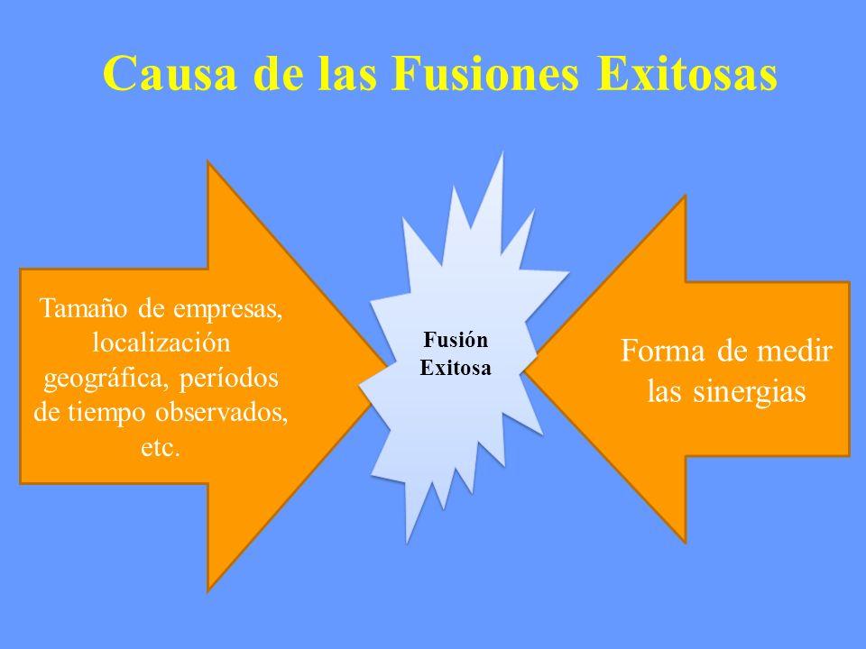 Causa de las Fusiones Exitosas
