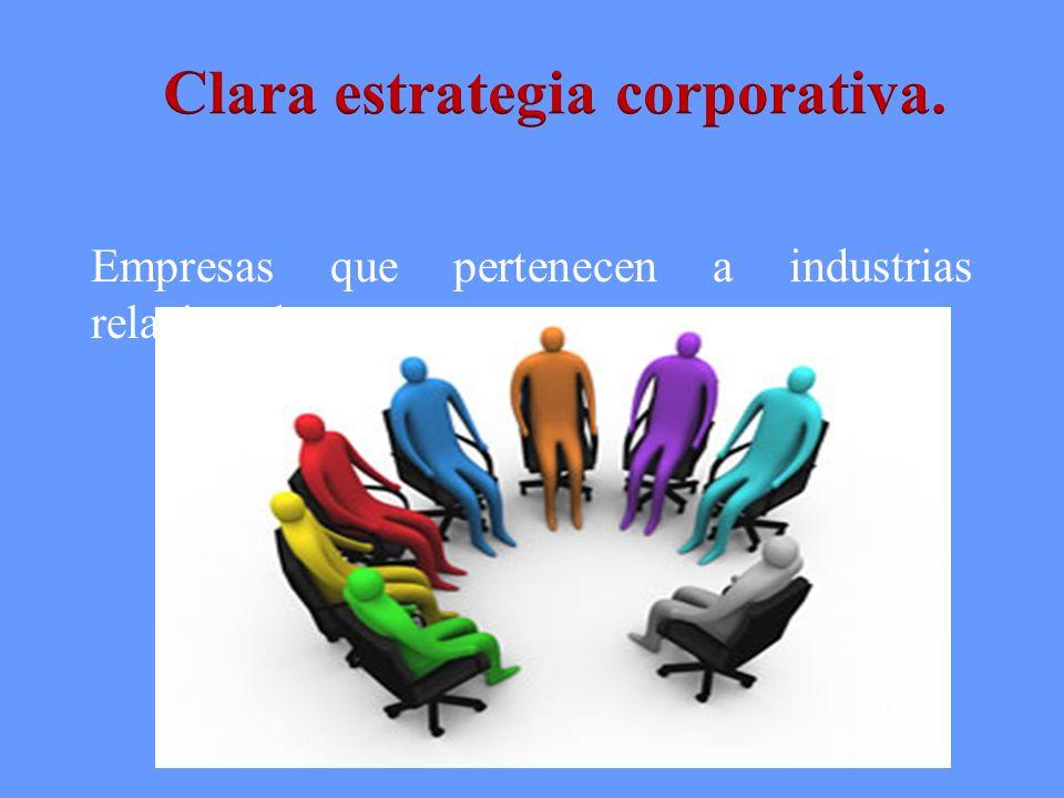 Clara estrategia corporativa.