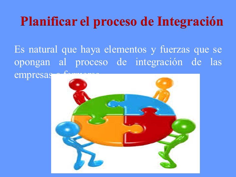 Planificar el proceso de Integración