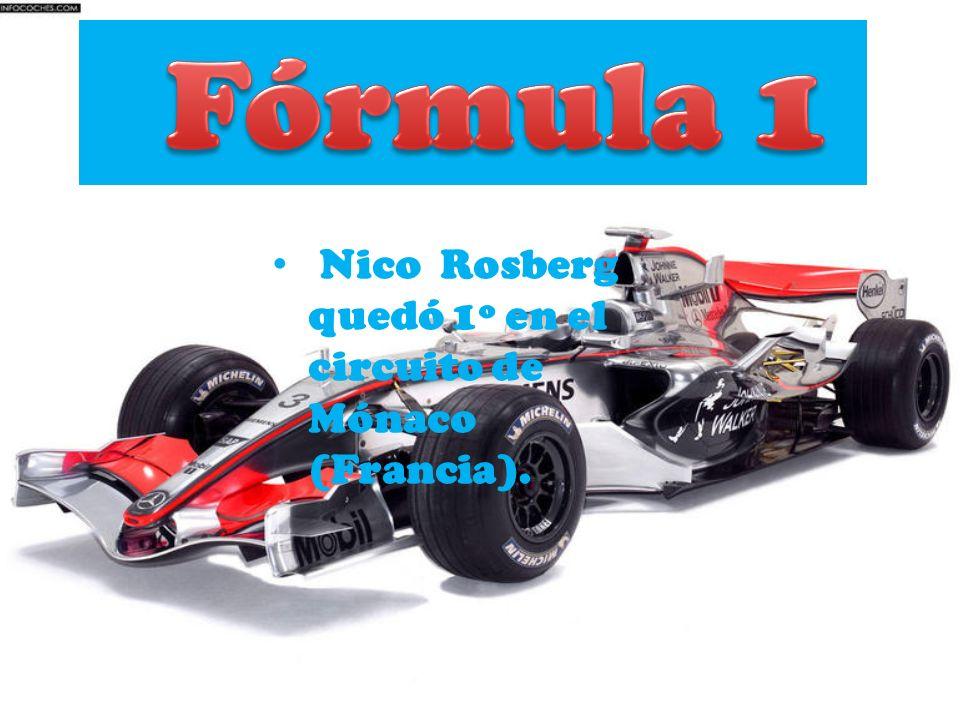 Fórmula 1 Nico Rosberg quedó 1º en el circuito de Mónaco (Francia).