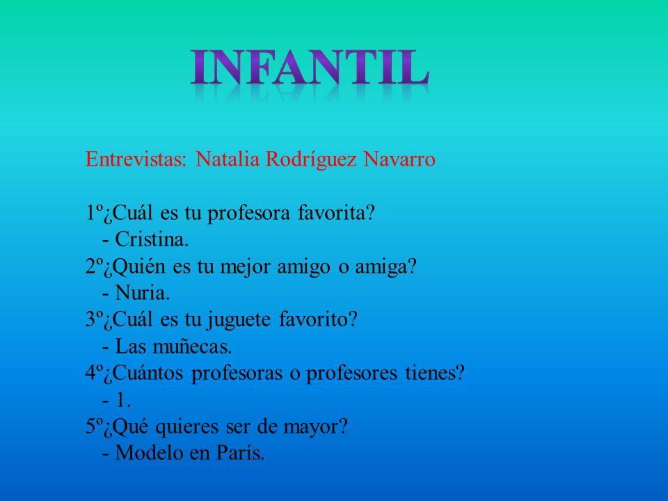 Infantil Entrevistas: Natalia Rodríguez Navarro