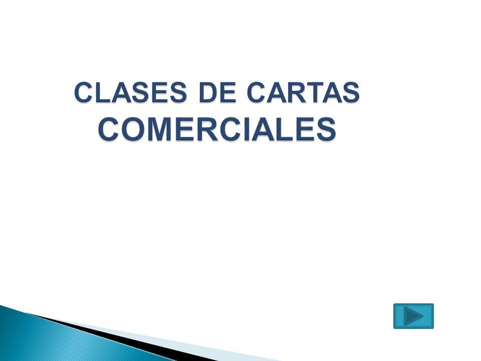 CLASES DE CARTAS COMERCIALES