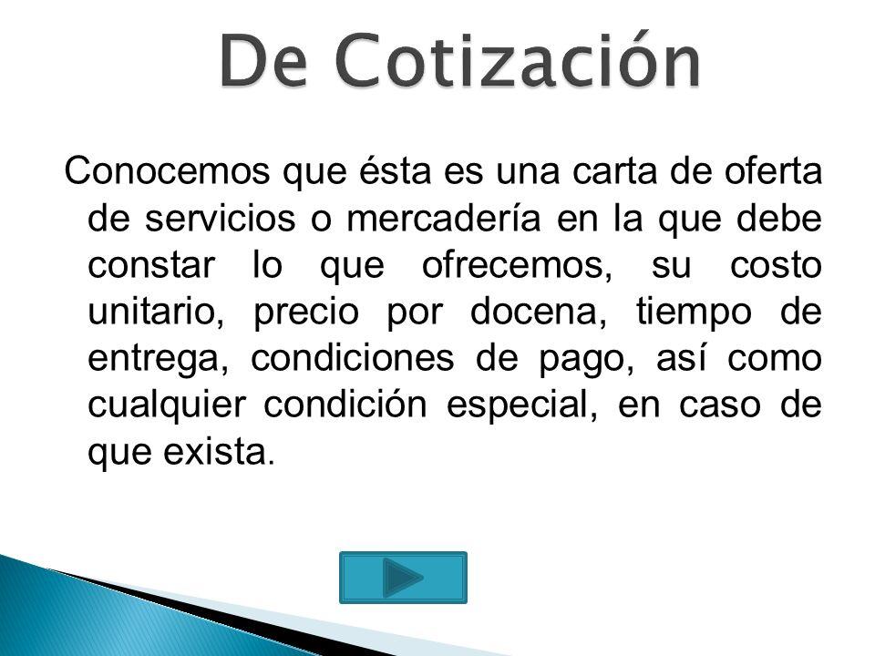 De Cotización
