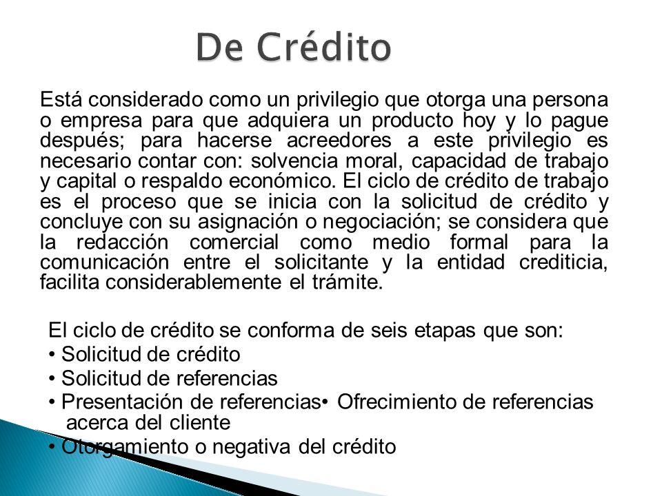 De Crédito